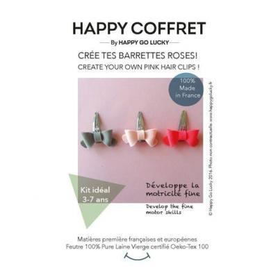 Kit Crée tes barrettes roses