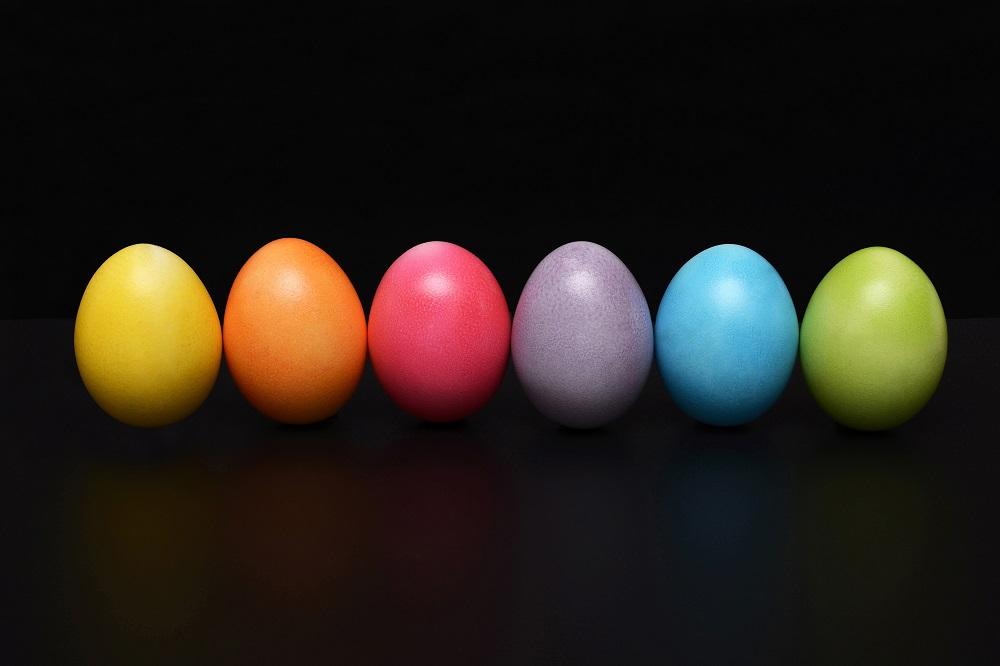 Easter eggs bright