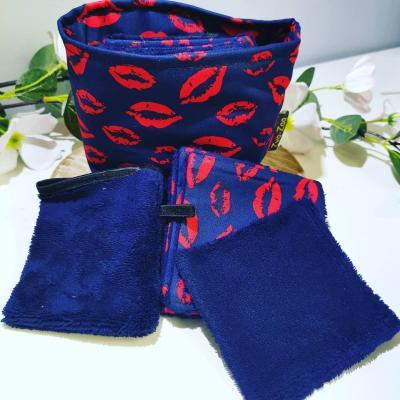 Pochon bisous 3 en 1 - 5 Lingettes/1 gant